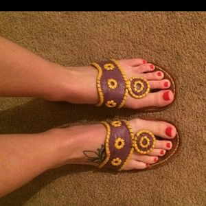 Jack Rogers sandals laker colors